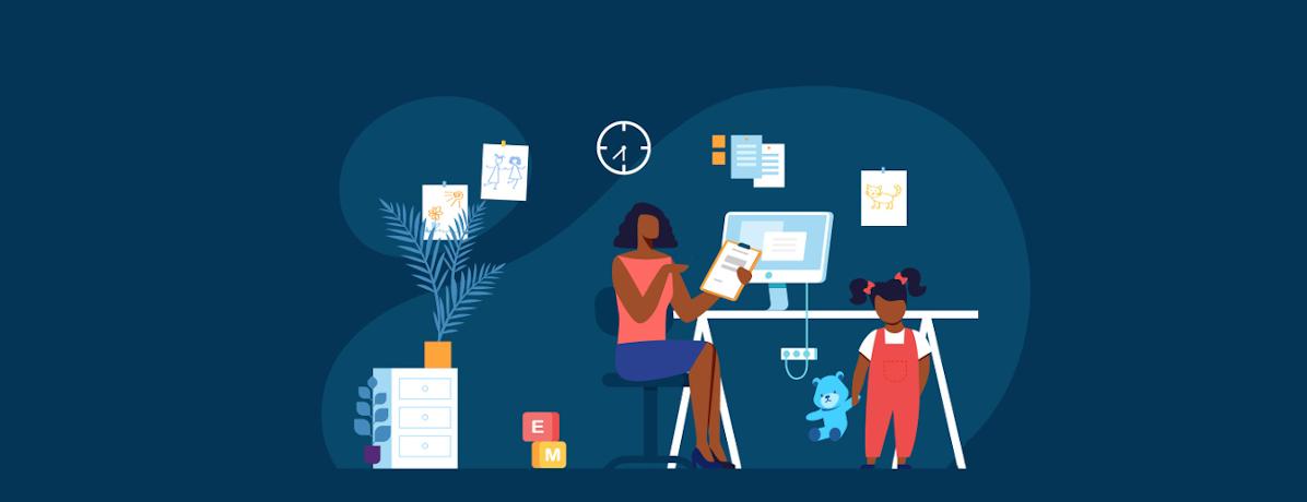 Trabalhando com crianças em casa: 4 dicas para ser produtivo